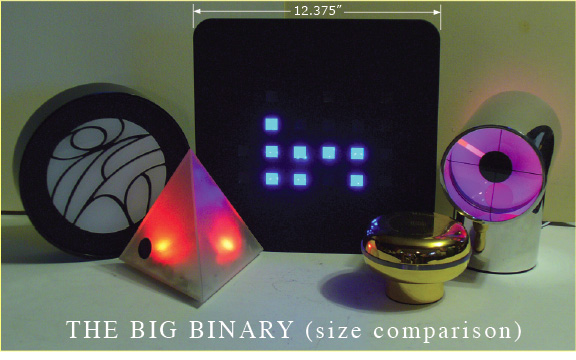 Big Binary XLD clock by Anelace