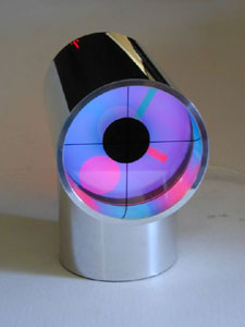 Aurora clock, blue and pink, by ChronoArt
